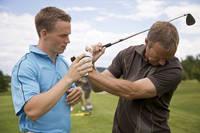 ゴルフのスイングの指導