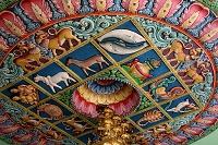 シンガポール スリ・スリニヴァサ・ペルマル寺院の天井画
