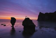 北海道 えびす岩 大黒岩の朝