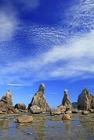 和歌山県 橋杭岩と雲