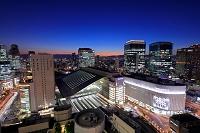 大阪府 梅田と大阪駅周辺の夜景