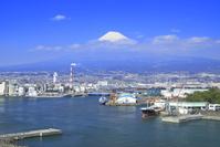 静岡県 富士山と田子の浦港