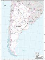 アルゼンチン 交通図