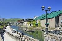 北海道 小樽運河と小樽運河クルーズ船