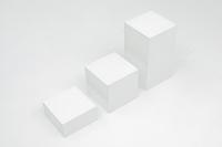高さの違う3つの箱