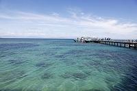 停泊中の船 グリーン島 オーストラリア