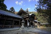 兵庫県 赤穂市 大避神社 拝殿と絵馬堂