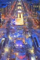 北海道 テレビ塔から見る大通公園のるさっぽろ雪まつりの夜景