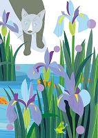 猫と花景5月