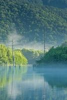 長野県 上高地の大正池と穂高連峰