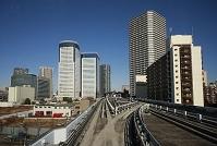 東京都 ゆりかもめの車窓からの眺め(新豊洲駅~豊洲駅間)