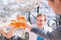 ピクニックする日本人と外国人