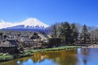 山梨県 忍野八海から望む富士山