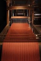 真岡木綿の機織り