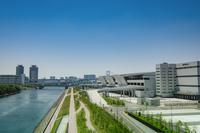 東京都 豊洲市場7街区と東雲運河