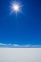 ボリビア ウユニ塩湖 六角形の模様