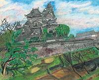 西出丸堀から見る熊本城