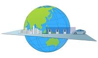 充電する車と地球