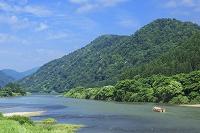 山形県 最上川と屋形船