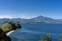 福島県 猪苗代湖と磐梯山