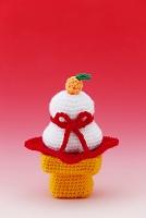 編みぐるみの鏡餅