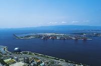 大阪 夢洲 カジノ建設計画地 咲州と舞洲の昼景