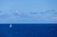 帆走するヨット
