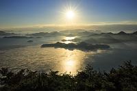 広島県 瀬戸内海の海霧