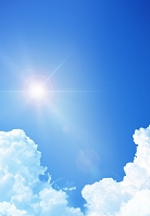 夏の太陽と雲 (CG)