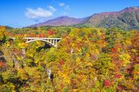 日本 宮城県 鳴子峡の紅葉