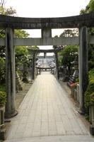 福岡県 宮地嶽神社 参道と石鳥居