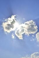 雲の隙間から輝く太陽