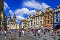 チェコ プラハ 旧市街広場界隈とティーン教会