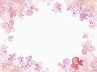 花の枠 イラスト
