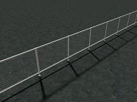 フェンスに隔てられた空間