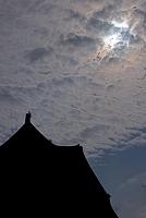 平城宮跡・大極殿と金環日食 (2012年5月)