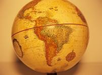 地球儀 南米