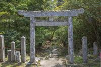 長崎県 安満岳 白山比賣神社の四之鳥居と石の参道