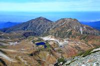 富山県 雄山より立山室堂と奥大日岳と大日岳
