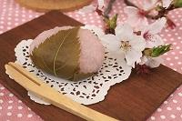 さくら餅と桜の花