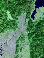 京都周辺衛星画像