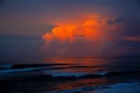 ハワイ オアフ島 カエナポイント(カエナ岬)からの眺め 夕景