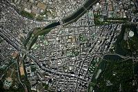 市ヶ谷駅 半蔵門 九段周辺垂直撮影(高度2,000mより撮影)