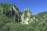 北海道 層雲峡渓谷の銀河の滝