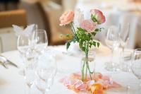 結婚式 テーブル花