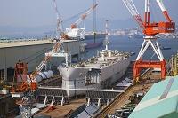 広島県 歴史の見える丘より造船所