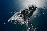 江ノ島(俯瞰撮影高度1,500m)