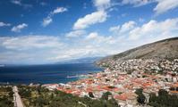 クロアチア ラビン 紺碧の空と海