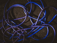 青いビニールホース