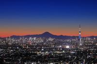 千葉県 富士山とスカイツリーの夜景